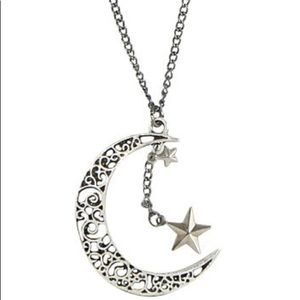 Hot Topic Moon and Stars Necklace